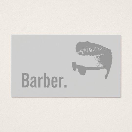 Barber Bold Text Minimalist Hairdresser Hair Business Card