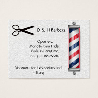 barber business business card