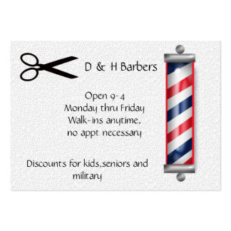 barber business business card templates