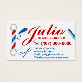 Barber Business Card Design (Customizable, pole)