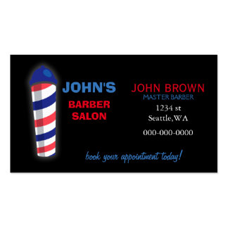 barber businesscard with appointment card on back pack of standard business cards