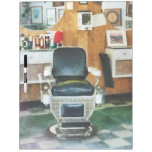 Barber Chair Front View Dry Erase Boards