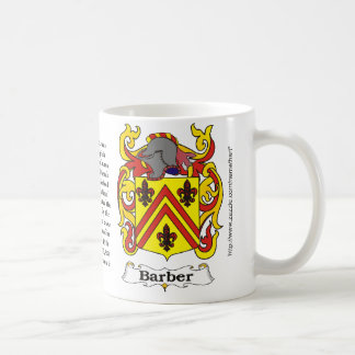 Barber Coat of Arm mug