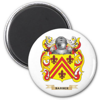 Barber Coat of Arms (Family Crest) 6 Cm Round Magnet