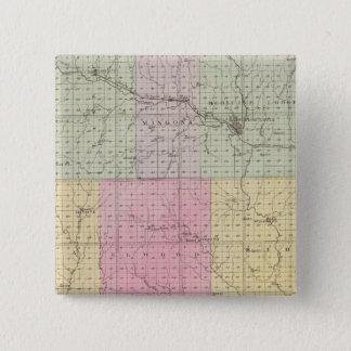 Barber County and Hazelton, Kansas 15 Cm Square Badge