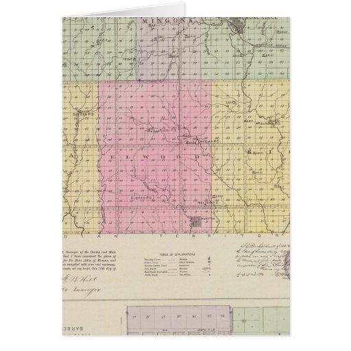 Barber County and Hazelton, Kansas Card