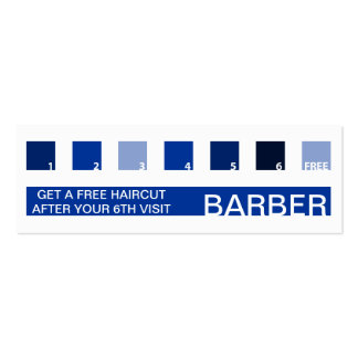 BARBER customer appreciation (mod squares) Pack Of Skinny Business Cards