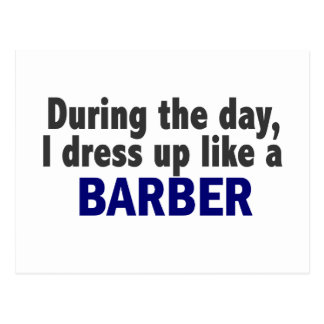 Barber During The Day Postcard