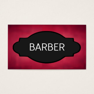 Barber Elegant Name Plate Business Card