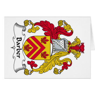 Barber Family Crest Greeting Card