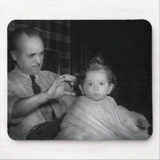 Barber - First Haircut Mouse Pad