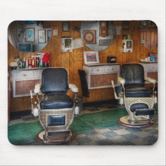 Barber - Frenchtown, NJ - Two old barber chairs  Mouse Pad