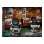 Barber - Frenchtown, NJ - Two old barber chairs Postcards