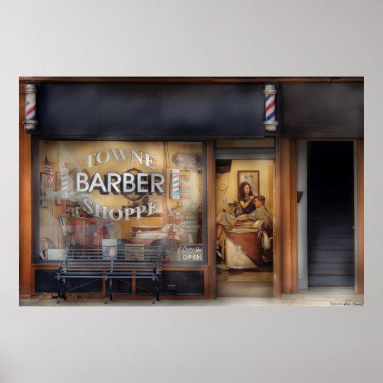 Barber - Getting a hair cut Poster