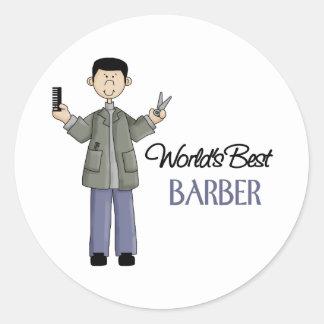 Barber Gift Classic Round Sticker