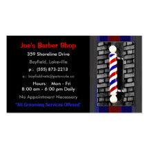 Barber / Men's Hair Stylist Business Cards