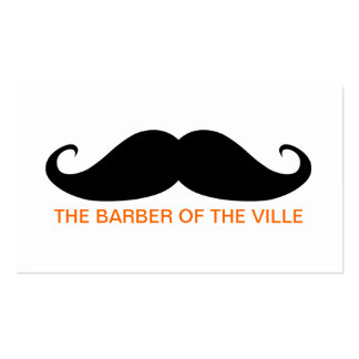 Barber of the Ville Business Card Template