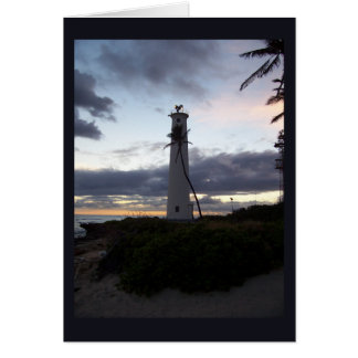 Barber Point Lighthouse at Sunset Greeting Cards