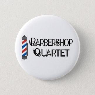 Barber Pole Barbershop Quartet 6 Cm Round Badge