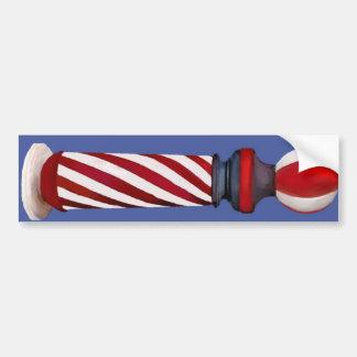 Barber Pole Bumper Sticker