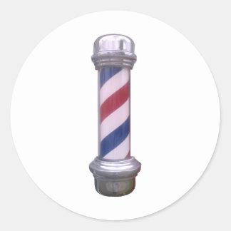 Barber Pole Classic Round Sticker