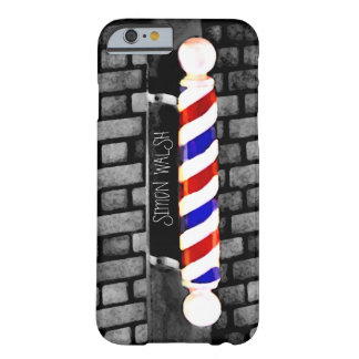 Barber Pole Distressed Custom Name iPhone 6 Case Barely There iPhone 6 Case