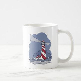 Barber Pole Lighthouse Basic White Mug