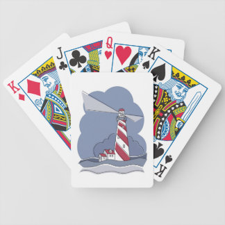 Barber Pole Lighthouse Playing Cards