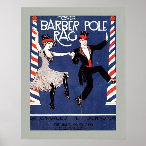 BARBER POLE RAG Vintage Sheet Music Cover Copy