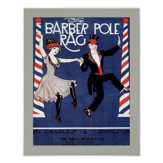 BARBER POLE RAG Vintage Sheet Music Cover Copy