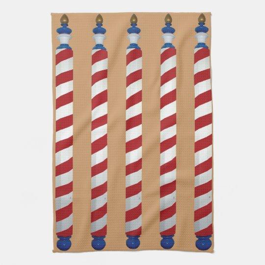 Barber Poles Tea Towel