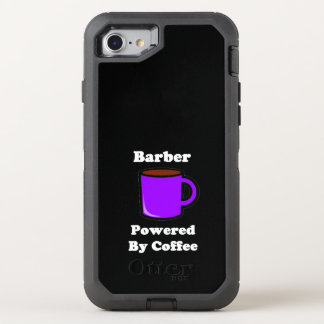 """""""Barber"""", Powered by Coffee OtterBox Defender iPhone 7 Case"""