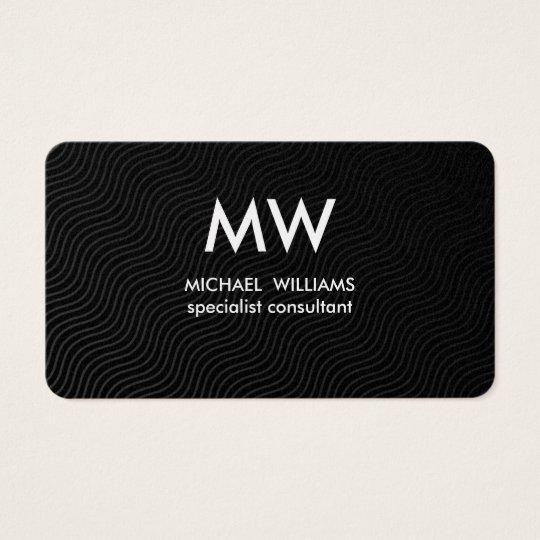 Barber - Professional elegant waves gilded Business Card