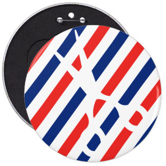 Barber Scissors 6 Cm Round Badge