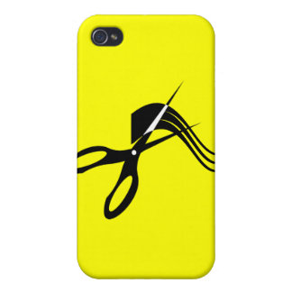 Barber Scissors - Hair Stylist iPhone 4 Covers