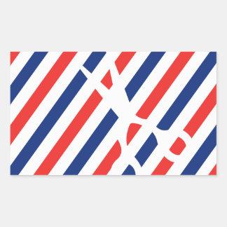 Barber Scissors Rectangular Sticker
