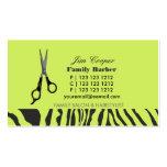 Barber Sharp Sheers Pack Of Standard Business Cards