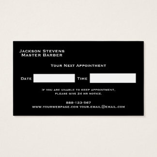 Barber Shave Straight Edge Razor Photograph Business Card