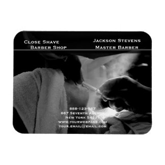 Barber Shave Straight Edge Razor Photograph Magnet