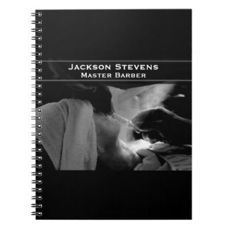 Barber Shave Straight Edge Razor Photograph Notebook