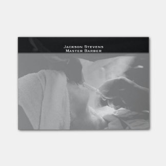 Barber Shave Straight Edge Razor Photograph Post-it Notes