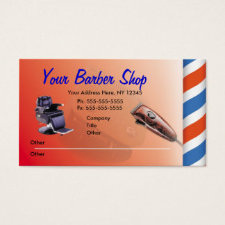 Barber Shop Business Cards
