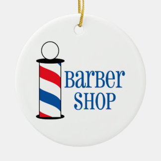 Barber Shop Christmas Ornament