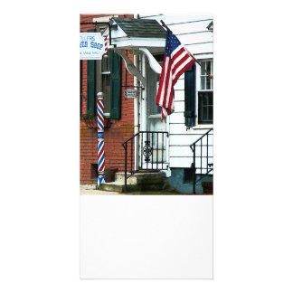Barber Shop Entrance Photo Card Template