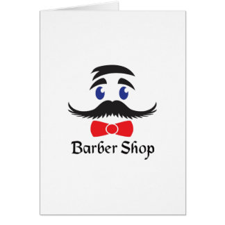 BARBER SHOP GREETING CARD