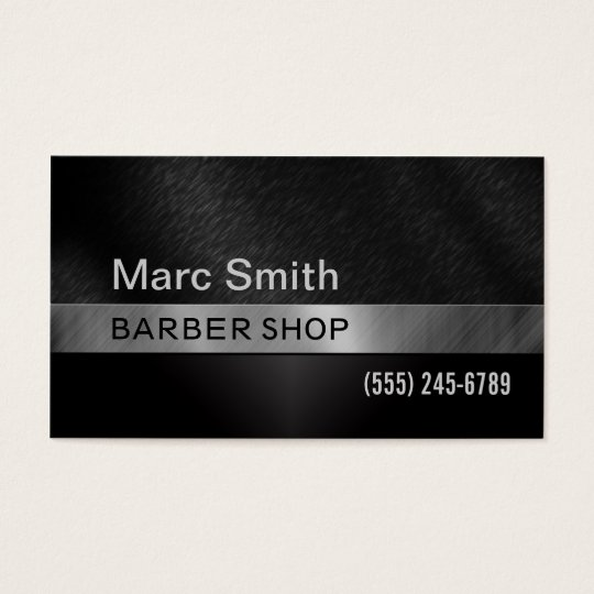 Barber Shop & Hair Stylist Business Card for