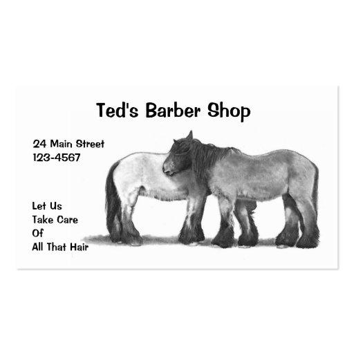 Barber Shop: Hairy Belgian Horses: Business Card
