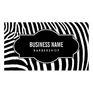 Barber Shop Modern Black & White Zebra Stripes Pack Of Standard Business Cards