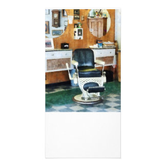 Barber Shop One Chair Personalised Photo Card
