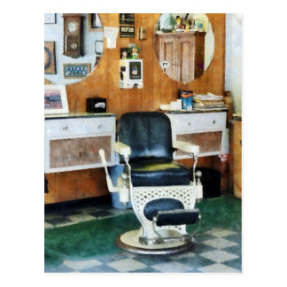 Barber Shop One Chair Postcard
